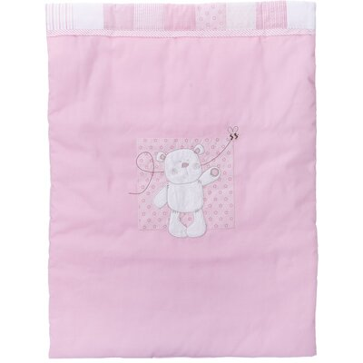 Obaby B is for Bear Crib Quilt and Bumper in Pink (2 Piece Set)