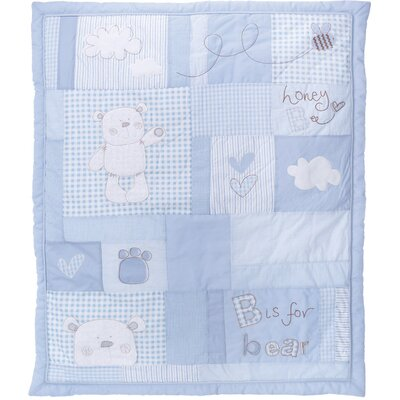Obaby B is for Bear 2 Piece Quilt and Bumper Set in Blue