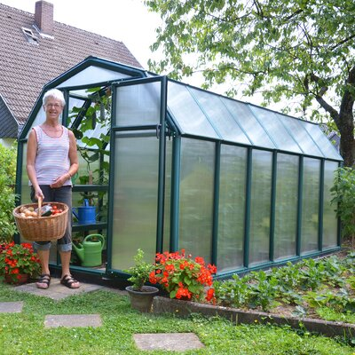 EcoGrow 2 Twin Wall 6 Ft. W x 12 Ft. D Greenhouse