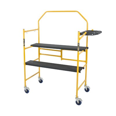 Jobsite Series 4.81' H x 49.56'' W x 22.56'' D Steel Folding Scaffolding with 250 lb. Load Capacity Type I Duty Rating
