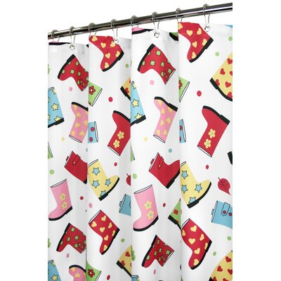 Watershed Prints Favorite Boots Shower Curtain