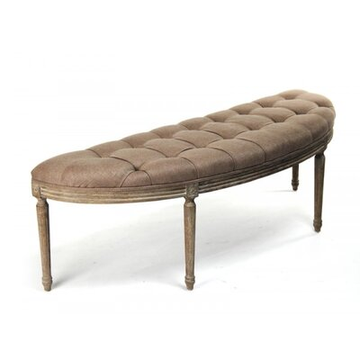 Arviso Curved Upholstered Bench Upholstery: Copper