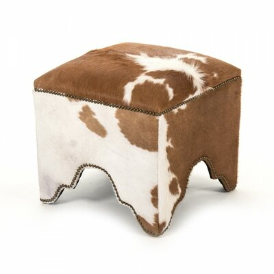Seraphina Cowhide Cubic Accent Stool