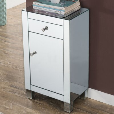 Emerita 1 Drawer Rectangular Accent Cabinet