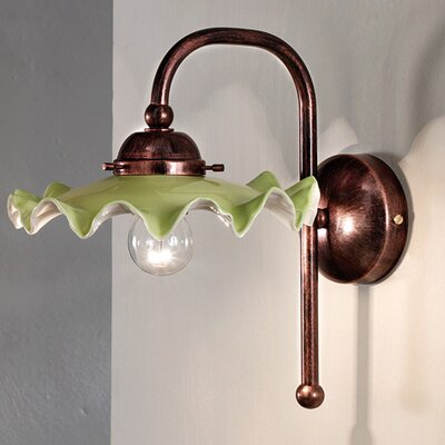 Ferroluce Padova 1 Light Rustic Wall Lamp
