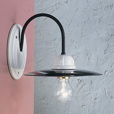 Ferroluce Potenza 1 Light Industrial Vintage Wall Lamp