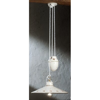 Ferroluce Asti 1 Light Bowl Pendant Lamp