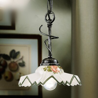 Ferroluce Cortina 1 Light Mini Pendant Lamp
