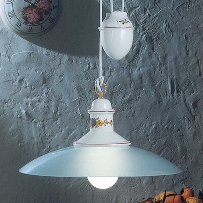 Ferroluce Assisi 1 Light Bowl Pendant Lamp