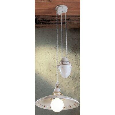 Ferroluce Torino 1 Light Bowl Pendant