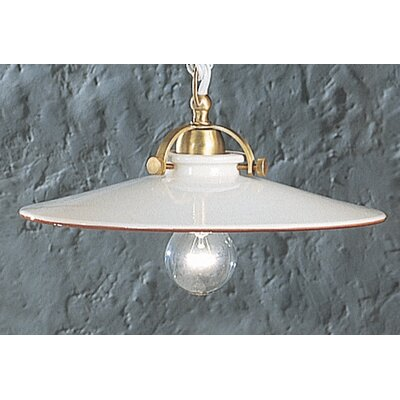 Ferroluce Asti 1 Light Bowl Pendant