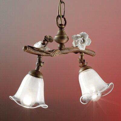 Ferroluce Siena 2 Light Beam Pendant Lamp