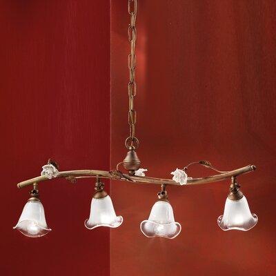Ferroluce Siena 4 Light Beam Pendant Lamp