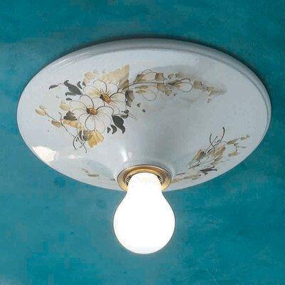 Ferroluce Trieste 1 Light Semi Flush Ceiling Light