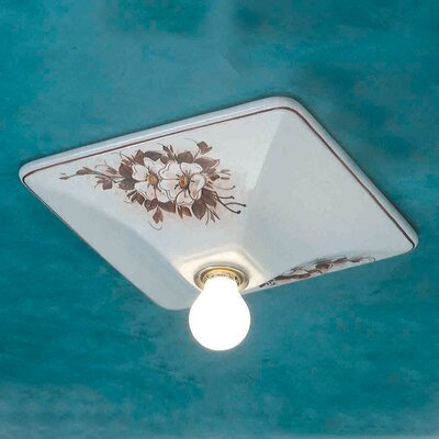 Ferroluce Trieste 1 Light Semi Flush Ceiling Light