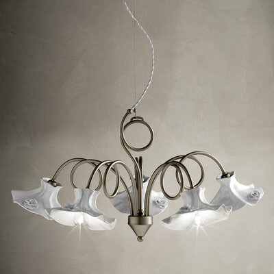 Ferroluce Lecco 5 Light Chandelier