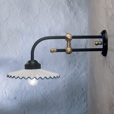 Ferroluce L'aquila 1 Light Armed Wall Sconce