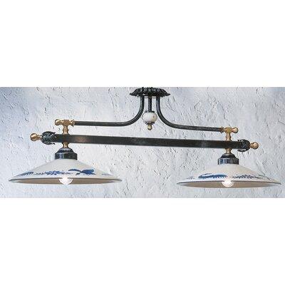 Ferroluce Asti 2 Light Bowl Pendant