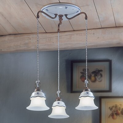 Ferroluce Ferrara 3 Light Mini Pendant Lamp