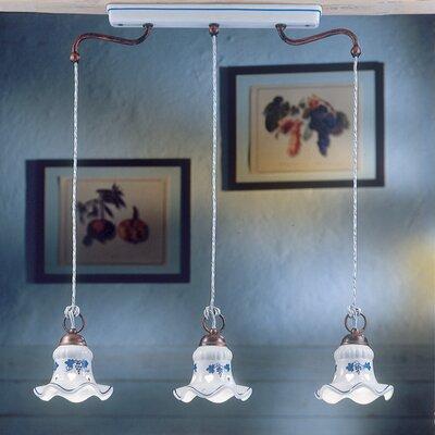 Ferroluce Chieti 3 Light Mini Pendant Lamp