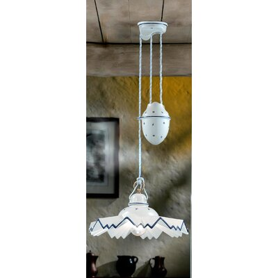 Ferroluce Cortina 1 Light Bowl Pendant