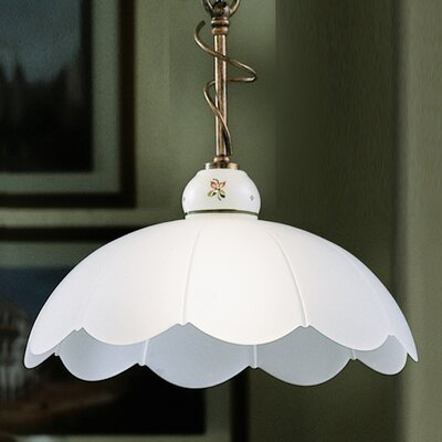 Ferroluce Mantova 1 Light Bowl Pendant Lamp