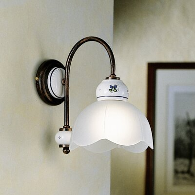 Ferroluce Mantova 1 Light Wall Sconce
