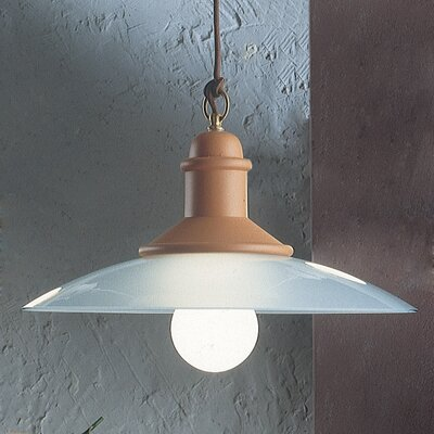 Ferroluce Assisi 1 Light Bowl Pendant