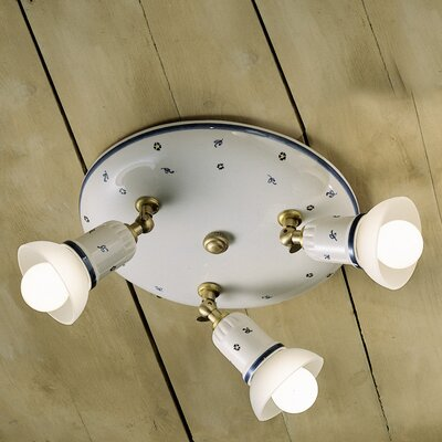 Ferroluce Treviso 3 Light Ceiling Spotlight
