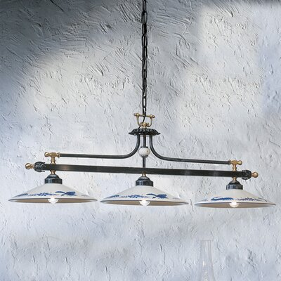 Ferroluce Asti 3 Light Beam Pendant Lamp
