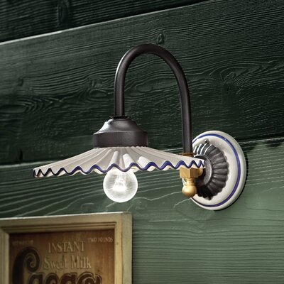 Ferroluce L'aquila 1 Light Swing Arm Wall Lamp