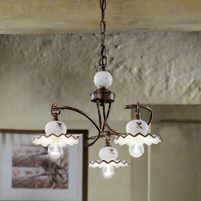 Ferroluce Roma 3 Light Chandelier