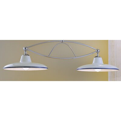 Ferroluce Como 2 Light Bowl Pendant Lamp