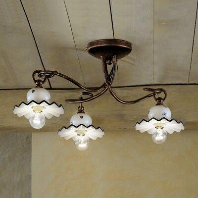 Ferroluce Roma 3 Light Ceiling Light