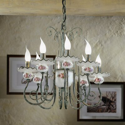 Ferroluce Sanremo 8 Light Chandelier
