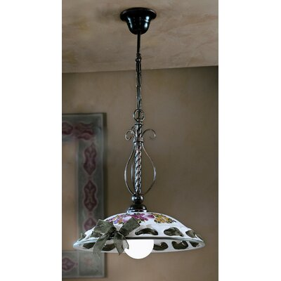 Ferroluce Napoli 1 Light Bowl Pendant Lamp