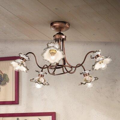 Ferroluce Milano 5 Light Ceiling Light