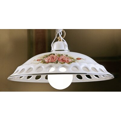 Ferroluce Napoli 1 Light Bowl Pendant