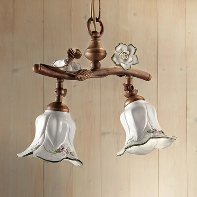 Ferroluce Pisa 2 Light Bowl Pendant