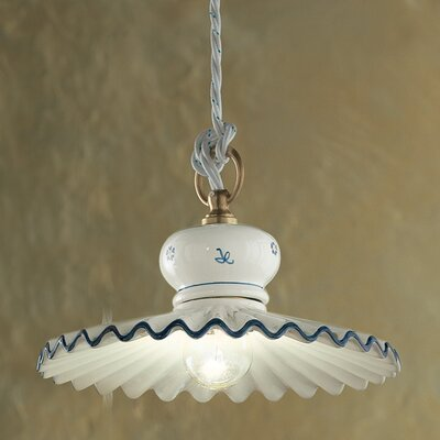 Ferroluce Roma 1 Light Bowl Pendant Lamp
