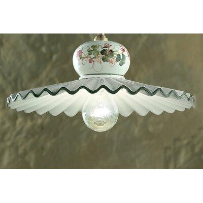 Ferroluce Roma 1 Light Bowl Pendant