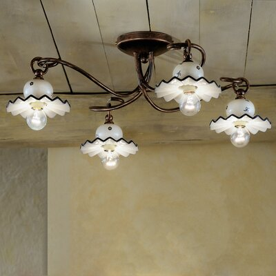 Ferroluce Roma 4 Light Ceiling Light