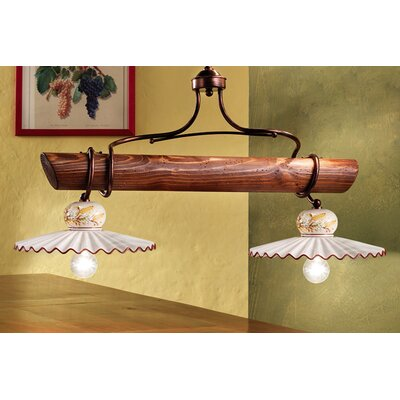 Ferroluce Roma 2 Light Bar Pendant Lamp