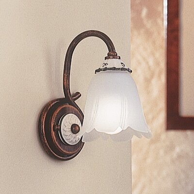 Ferroluce Vincenza 1 Light Wall Sconce