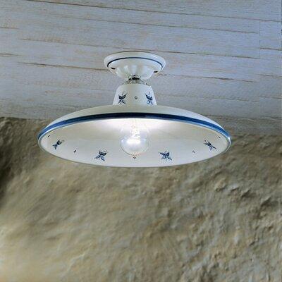 Ferroluce Como 1 Light Semi Flush Ceiling Light