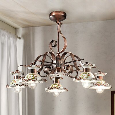 Ferroluce Milano 5 Light Candle Chandelier