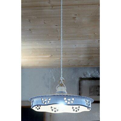 Ferroluce Alessandria 1 Light Bowl Pendant Lamp