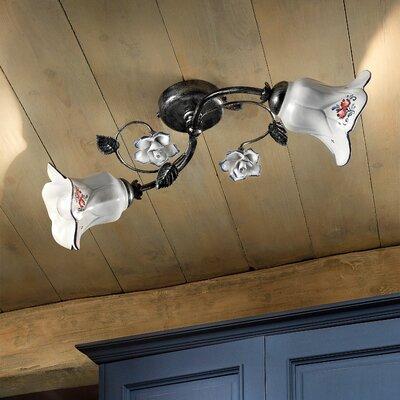 Ferroluce Pisa 2 Light Flush Ceiling Light