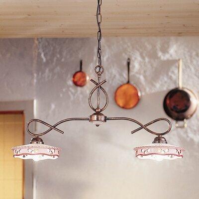 Ferroluce Alessandria 2 Light Bar Pendant Lamp