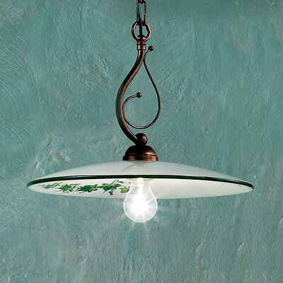 Ferroluce Torino 1 Light Bowl Pendant Lamp